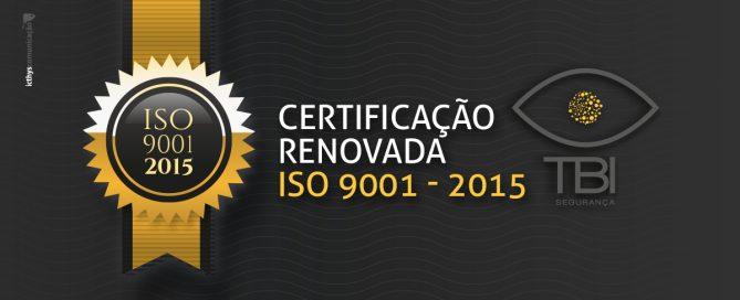 Cabeçalho do blogpost com o título Certificação Renovada Iso 9001:2015